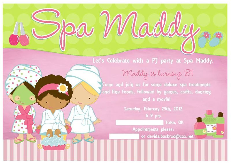 Spa Party Maddy