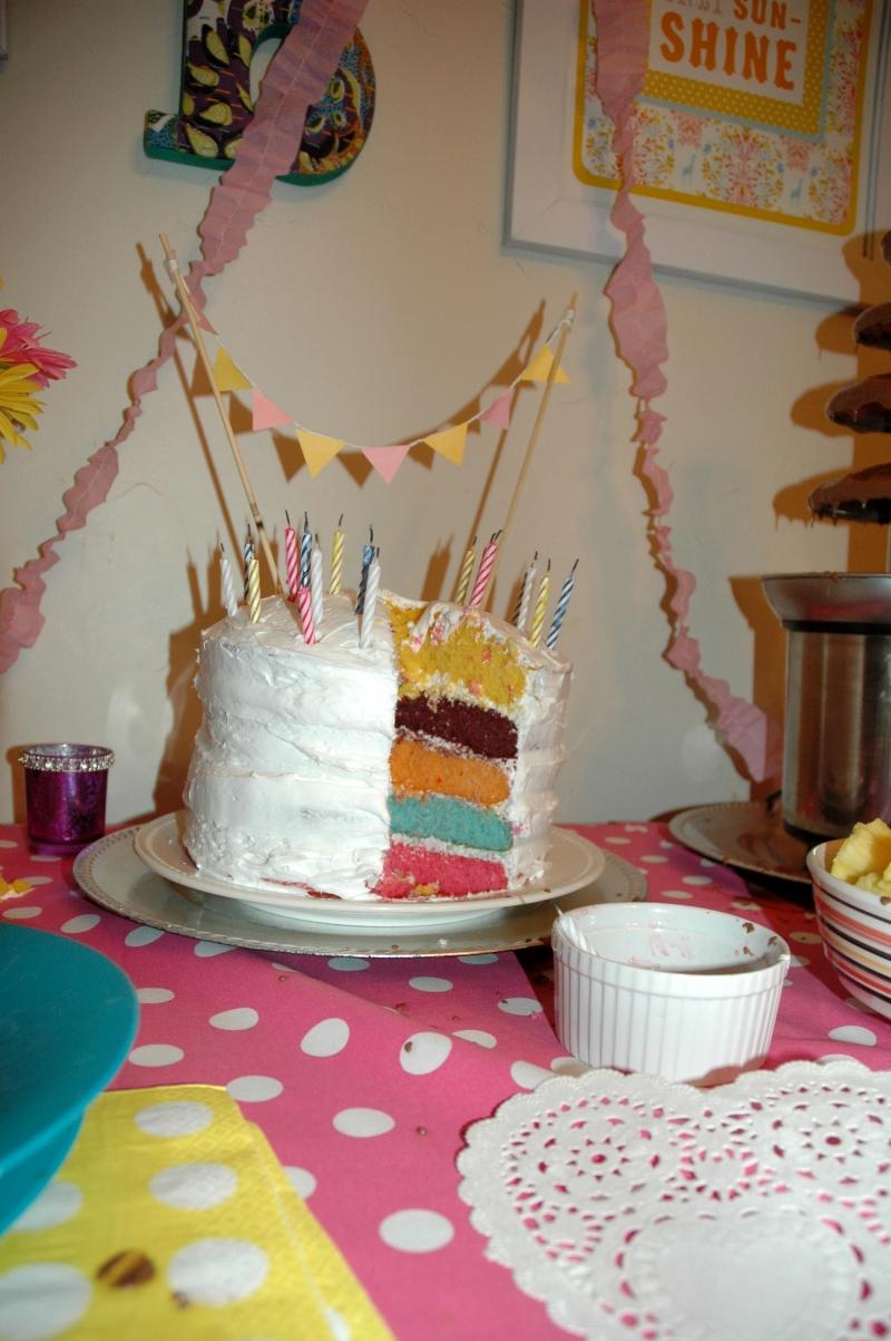 Inside cake