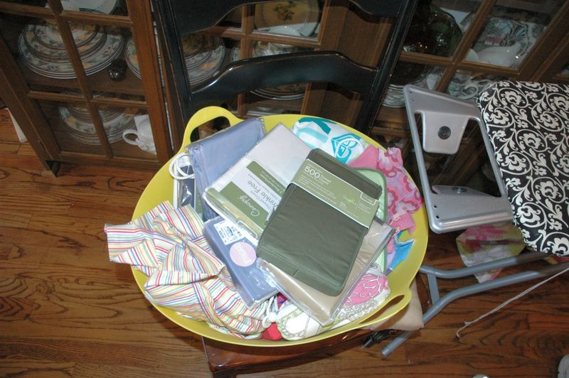Basket of pillowcases
