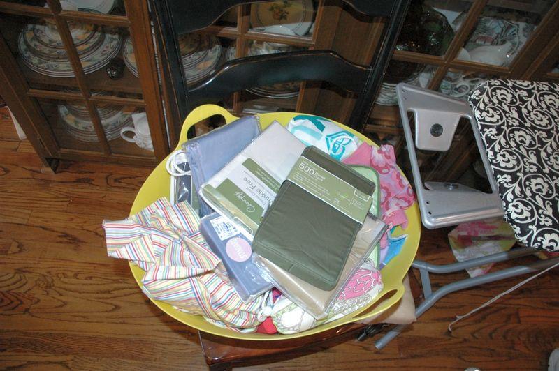 Basket of pillowcases