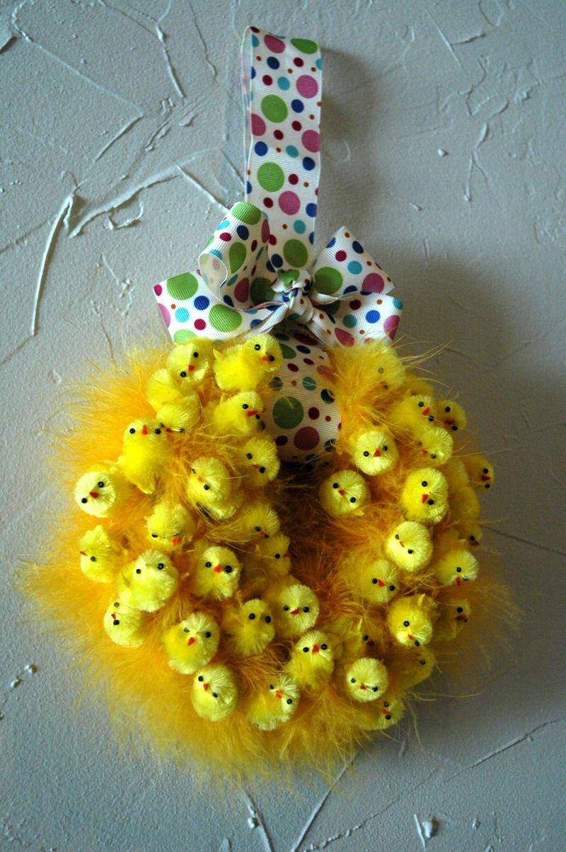 Fluffy wreath