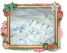 White ruffle framesm