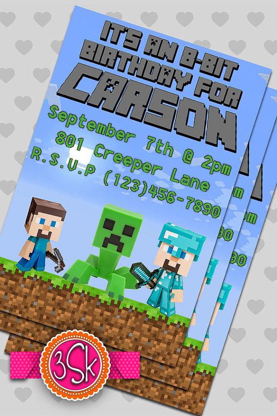 BubbaChic Minecraft Party Ideas