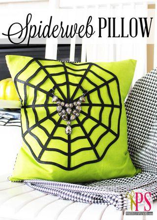 Spiderweb pillow title